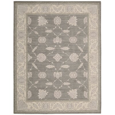 Deeksha Pewter Area Rug Rug Size: Rectangle 53 x 76