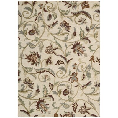 Sunburst Buttercream Area Rug Rug Size: 36 x 56