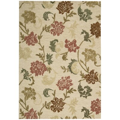 Lymon Hand-Tufted Buff Area Rug Rug Size: Rectangle 53 x 75