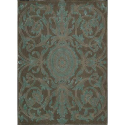 Zaniel Hand-Tufted Mocha Area Rug Rug Size: Rectangle 76 x 96