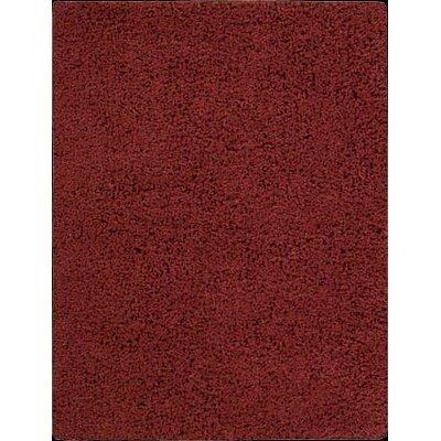 Zen Hand-Woven Rust Area Rug Rug Size: 36 x 56