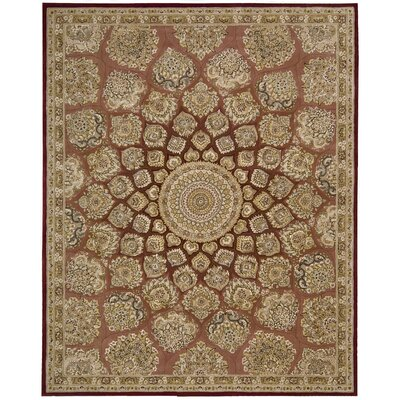 Nourison Hand Woven Wool Brown Indoor Area Rug Rug Size: Oval 7'6