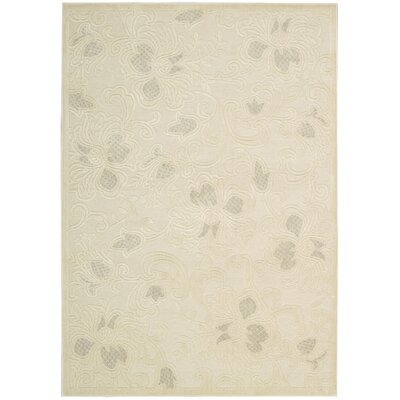 Christena Cream Area Rug Rug Size: 23 x 39