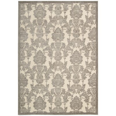 Riffe Ivory/Latte Area Rug Rug Size: Rectangle 79 x 1010