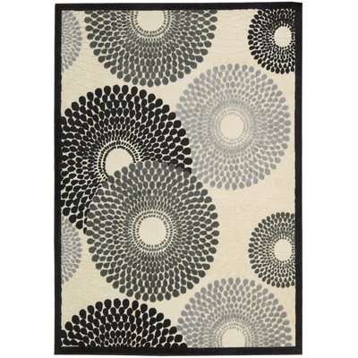 Illusions Black Area Rug Rug Size: 3'6