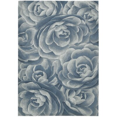 Boadle Hand-Tufted Blue Sea Area Rug Rug Size: 36 x 56