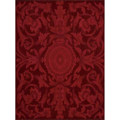 Zaniel Hand-Tufted Ruby Area Rug Rug Size: Rectangle 76 x 96