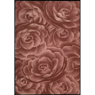 Moda Hand-Tufted Blush Area Rug Rug Size: 76 x 96
