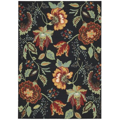 Burnside Black Area Rug Rug Size: 4 x 6