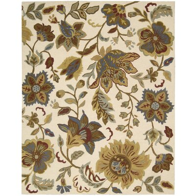 Elmwood Ivory Area Rug Rug Size: Rectangle 76 x 96