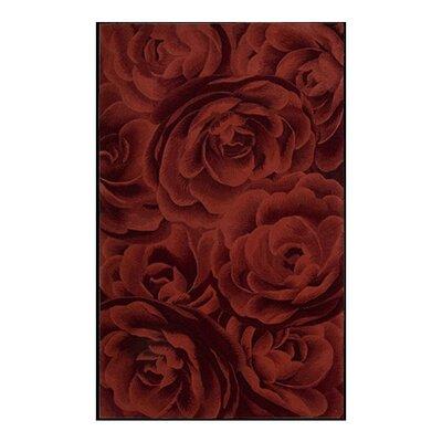 Moda Hand-Tufted Crimson Area Rug Rug Size: 56 x 75