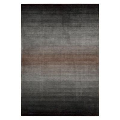 Ollie Hand-Tufted Gray/Black Area Rug Rug Size: 36 x 56