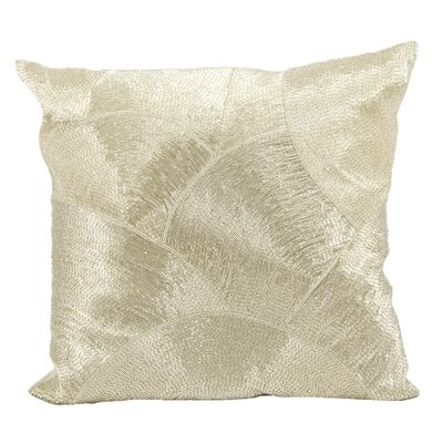 Sharonda 100% Cotton Throw Pillow Color: Silver