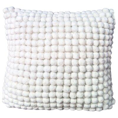 Janik Pom Pom 100% Cotton Throw Pillow Color: White