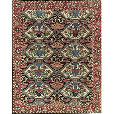 Nourmak Hand-Woven Red/Green Area Rug Rug Size: 12 x 18