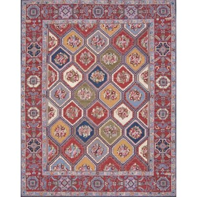 Pierson Hand-Woven Red Area Rug Rug Size: Rectangle 710 x 910