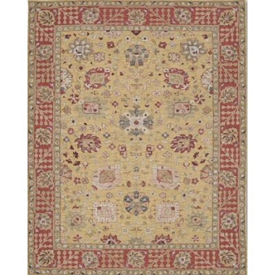 Pierson Hand-Woven Gold/Red Area Rug Rug Size: Round 8