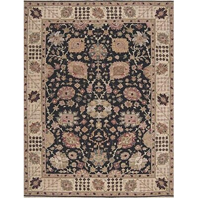 Pierson Hand-Woven Black/Brown Area Rug Rug Size: Round 8