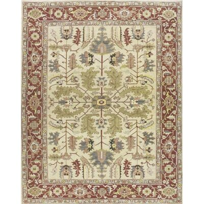 Pierson Hand-Woven Light gold/Cinnabar Area Rug Rug Size: Rectangle 12 x 18