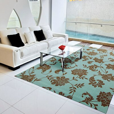 Sigel Light Blue/Brown Indoor/Outdoor Area Rug Rug Size: Rectangle 10 x 13
