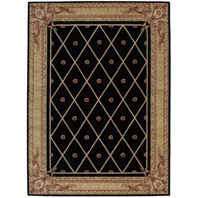 Ashton House Black Area Rug Rug Size: 36 x 56