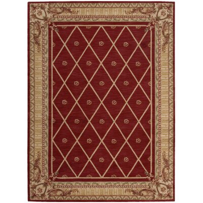 Ashton House Red Area Rug Rug Size: 56 x 75