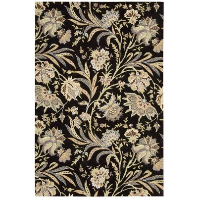 Elderton Hand-Tufted Black Area Rug Rug Size: Rectangle 5 x 76
