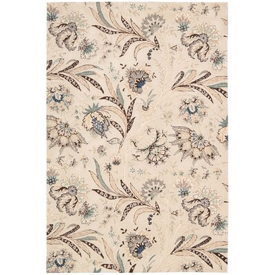 Elderton Hand-Tufted Ivory Area Rug Rug Size: Rectangle 5 x 76
