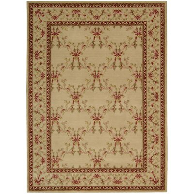 Fairchild Beige Wool Area Rug Rug Size: Rectangle 2 x 59