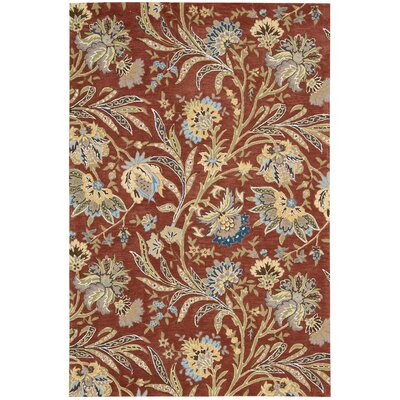 Elderton Hand-Tufted Red Area Rug Rug Size: Rectangle 39 x 59
