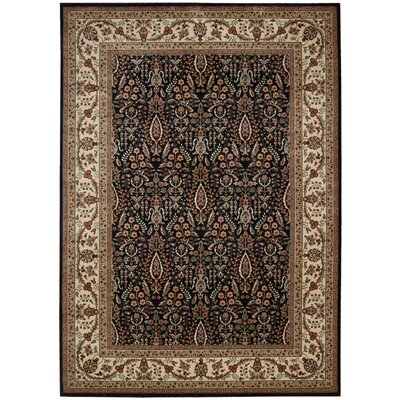 Callisto Black Area Rug Rug Size: Rectangle 5'3