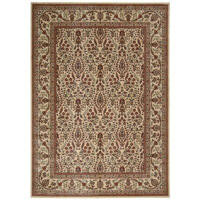Callisto Ivory/Brown Area Rug Rug Size: Rectangle 53 x 74