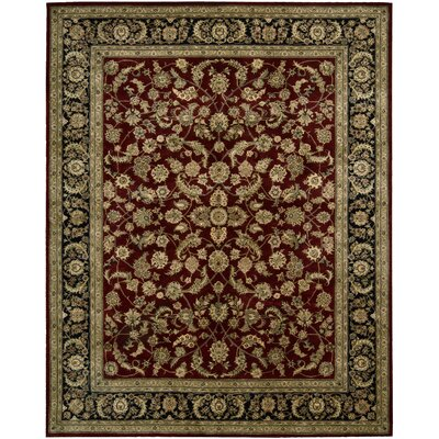 Ellerswick Hand Woven Wool Red/Green Indoor Area Rug Rug Size: Rectangle 26 x 43