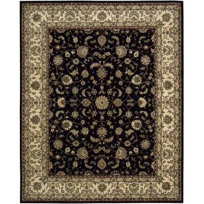 2000 Hand Woven Wool Beige/Black Indoor Area Rug Rug Size: 56 x 86