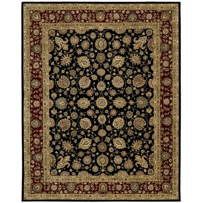 2000 Hand Woven Wool Red/Black Indoor Area Rug Rug Size: 86 x 116