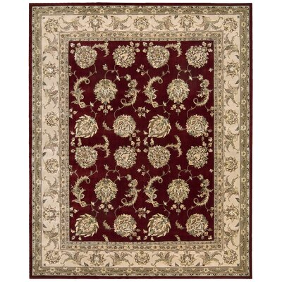 2000 Hand Woven Wool Red/Ivory Indoor Area Rug Rug Size: 99 x 139