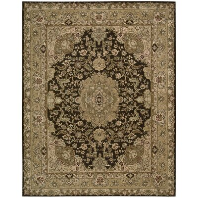 2000 Hand Woven Wool Tan Indoor Area Rug Rug Size: 56 x 86