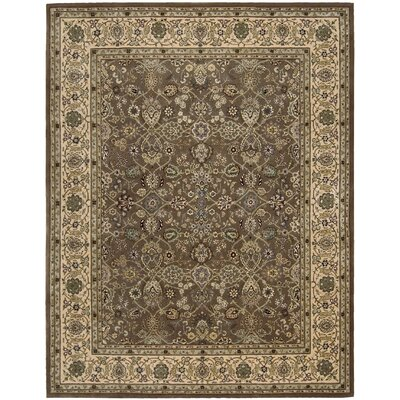 2000 Hand Woven Wool Green Indoor Area Rug Rug Size: 79 x 99