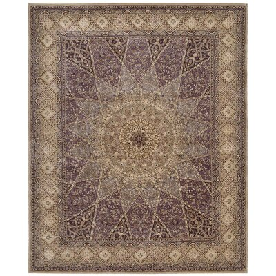 2000 Hand Woven Wool Lavender/Brown Indoor Area Rug Rug Size: 86 x 116
