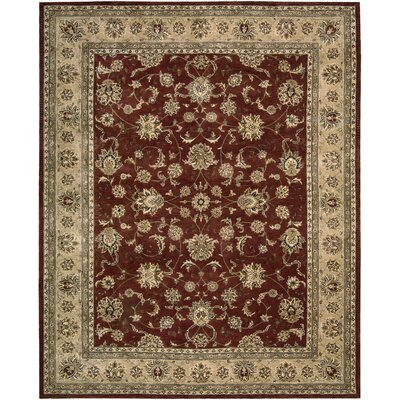 Ellerswick Hand Woven Wool Beige/Red Indoor Area Rug Rug Size: Rectangle 86 x 116