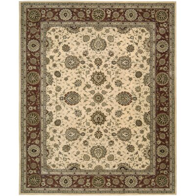 2000 Hand-Tufted Ivory Area Rug Rug Size: 79 x 99