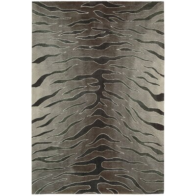 Contour Hand-Tufted Animal Print Area Rug Rug Size: 36 x 56
