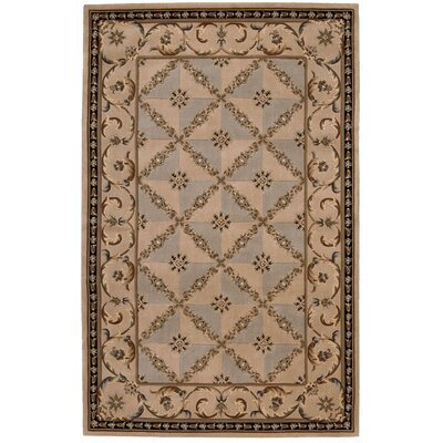 Versailles Palace Brown/Tan Area Rug Rug Size: 36 x 56