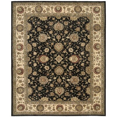 Ellerswick Hand Woven Wool Midnight Indoor Area Rug Rug Size: Rectangle 26 x 43