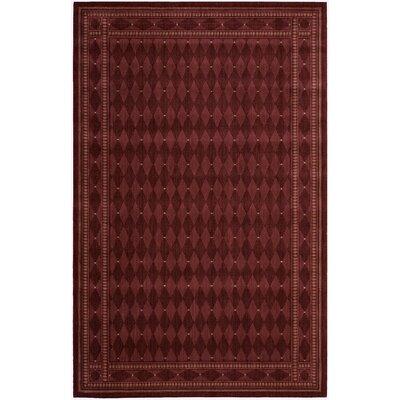 Lourdes Burgundy Area Rug Rug Size: 83 x 113