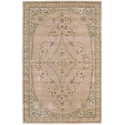 Versailles Palace Hand-Tufted Brown/Tan Area Rug Rug Size: 96 x 136