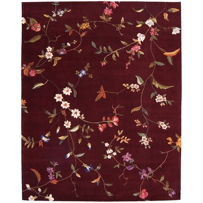 Sheron Ruby Area Rug Rug Size: Rectangle 36 x 56