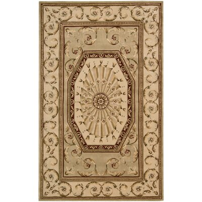 Brownlee Brown/Tan Area Rug Rug Size: Rectangle 76 x 96