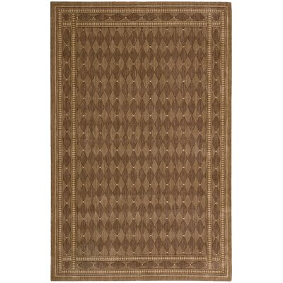 Lourdes Cocoa Area Rug Rug Size: 83 x 113