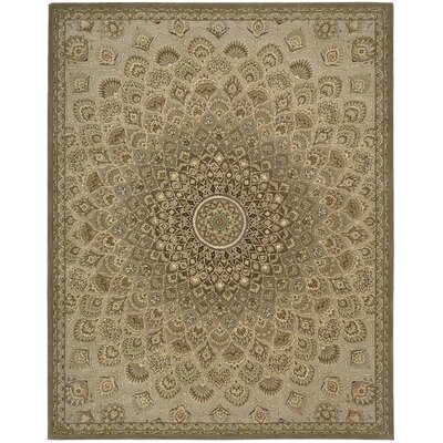 2000 Hand Woven Wool Brown/Cream Indoor Area Rug Rug Size: 79 x 99